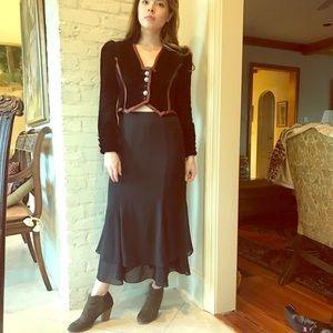 Adrianna Papell Layered Skirt